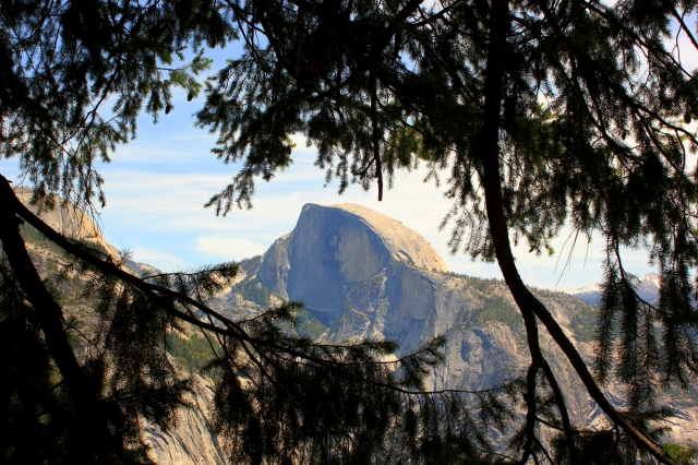 North Dome seen from halfway up the Yosemite falls. One day I will make it up there!