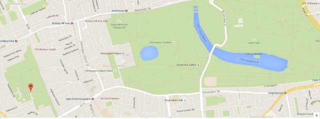 A map to show you how close it is to Hyde Park and also the tube stations around!